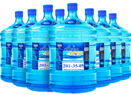 "Вода ""Аква чистая"" 8 бутылей по 19л."