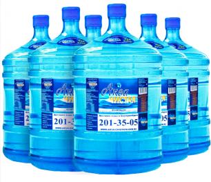 "Вода ""Аква чистая"" 6 бутылей по 19л."