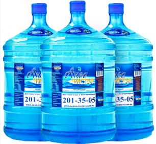 "Вода ""Аква чистая"" 3 бутыли по 19л."