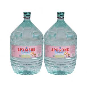 Вода Архызик 2 бутыли по 19 литров, пэт.